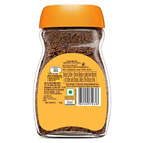 Nescafe Sunrise Rich Aroma Instant Coffee-Chicory Mix, 50g Glass Jar