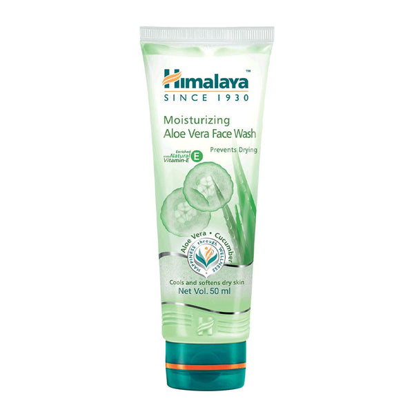 Himalaya Herbals Moisturizing Aloe Vera Face Wash Cream, 50ml