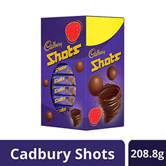 Cadbury Dairy Milk Chocolate Shots Carton (58 Units x 3.6 Gm), 208 g