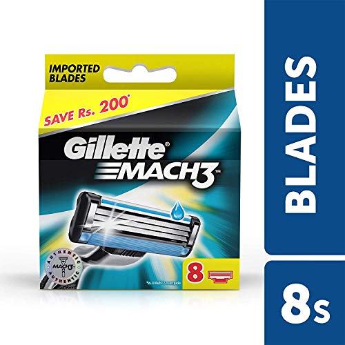 Gillette Mach 3 Manual Shaving Razor Blades - 8s Pack (Cartridge)