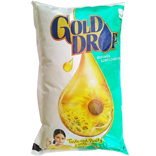 Gold Drop Cooking Oil - Sunflower, 1L Pouch