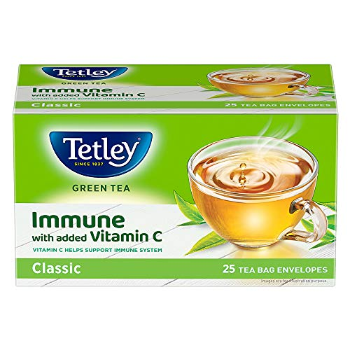 Tetley Green Tea immune with added Vitamin C, Classic, 25 Tea Bags