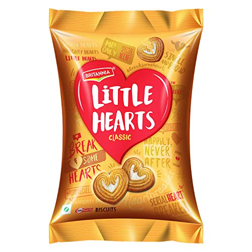 Britannia Little Hearts Biscuits - Classic, 34.5g