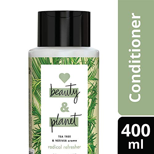 Love Beauty & Planet Radical Refresher Conditioner with Tea Tree and Vetiver Aroma, 400 ml