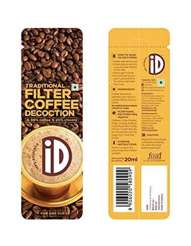 iD Filter Coffee Decoction Travel Sachet, 20ml