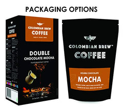 Colombian Brew Coffee Double Chocolate Mocha Instant Coffee, Vegan, No Sugar - 50gm
