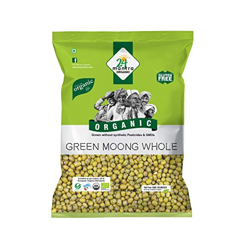 24 Mantra Organic – Green Moong Whole/sabut/saboot , 500g