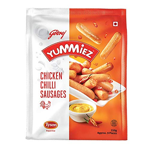 Yummiez Chicken Chilly Sausage Pouch, 250 g