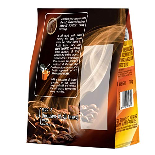 Nescafe Sunrise Rich Aroma Instant Coffee-Chicory Mix, 100g Pouch