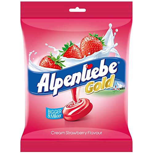 Alpenliebe Gold, Cream Strawberry Candy, 174.8g (46 pieces)