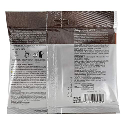 Godrej Expert Creame Natural Brown Hair Color 20 gm Pouch