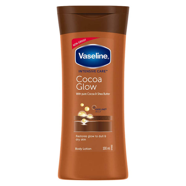 Vaseline Intensive Care Cocoa Glow Body Lotion, 100 ml, for Normal Skin