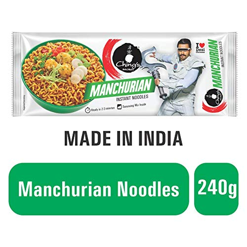 Chings Secret Instant Noodles, Manchurian, 240g Pack