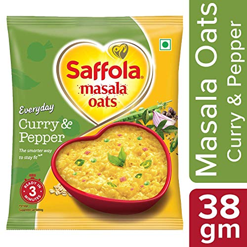 Saffola Masala Oats - Curry and Pepper, 38g