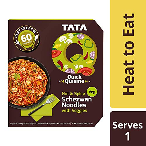 TATA Q Hot & Spicy Schezwan Noodles with Veggies, 290 g