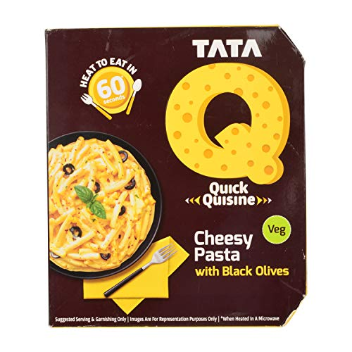 TATA Q Cheesy Pasta with Black Olives, 290 g