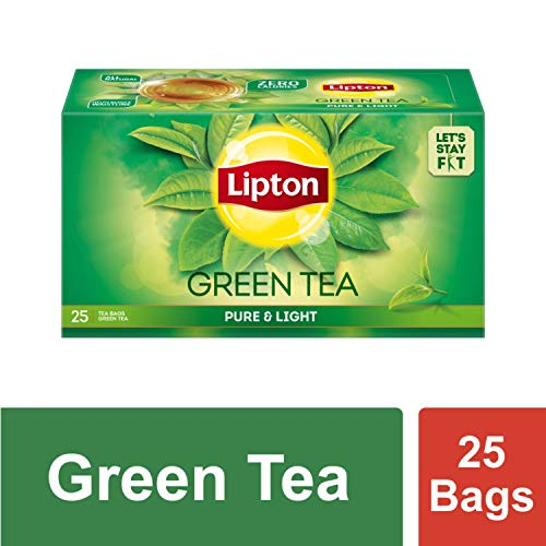 Lipton Pure & Light Green Tea Bags, 25 Pieces