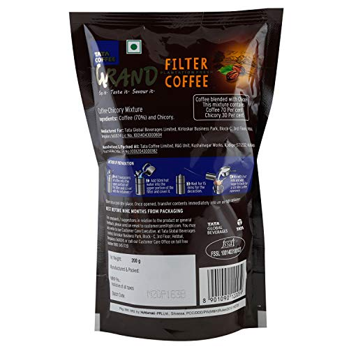 Tata Filter Coffee - Grand, 200g Pouch