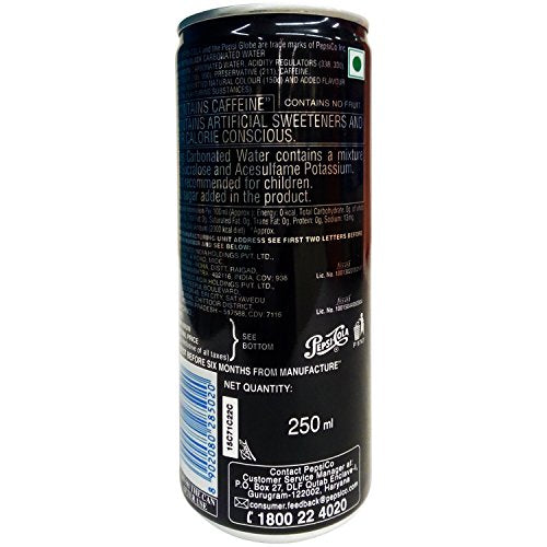 Pepsi Black, 250 ml Can