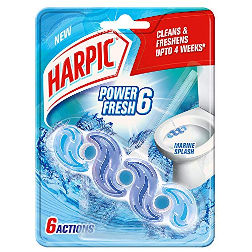 Harpic Power Fresh 6 Toilet Cleaner Rim Block, Marine Splash - 35 g