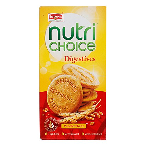 Britannia Nutri Choice Digestive Cookies - Wholewheat, 150g Carton