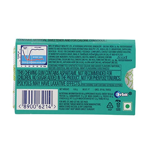Orbit Chewing Gum - Spearmint, 8.8g