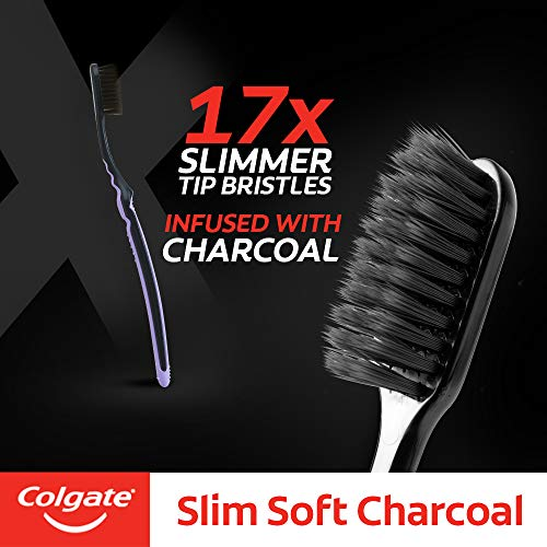 Colgate Slim Soft Charcoal Toothbrush (Buy 2 Get 2 Free) - 4 Pcs