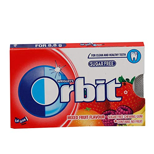 Wrigley's Orbit Sugar Free Chewing Gum - Mixed Fruit, 8.8g