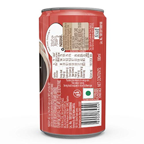Nescafe Ready to Drink Coffee Flavoured Milk, Intense Cappuccino (Can), 180 ml