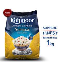 Kohinoor Supreme India€™s Finest Authentic Basmati Rice, 1 kg Pack