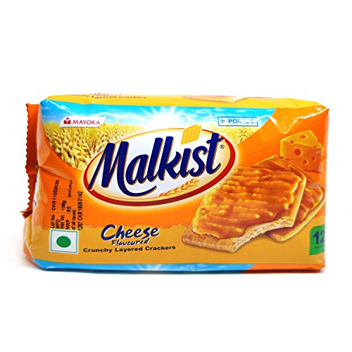 Malkist Crunchy Layer Crackers - Cheese, 138g
