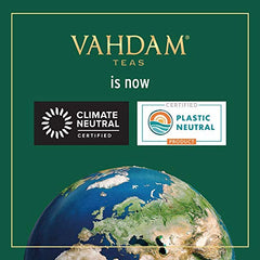 VAHDAM Organic Earl Grey Chai Masala- 5 Spices Mix Masala Tea | 15 Premium Pyramid Tea Bags, Whole Leaf with 0% Artificial Flavors, USDA Certified