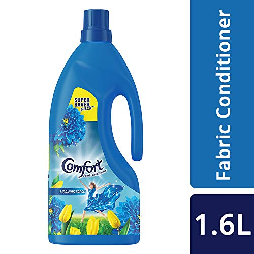 Comfort After Wash Morning Fresh Fabric Conditioner (Fabric Softener) - For Softness, Shine And Long Lasting Freshness, 1.6 L
