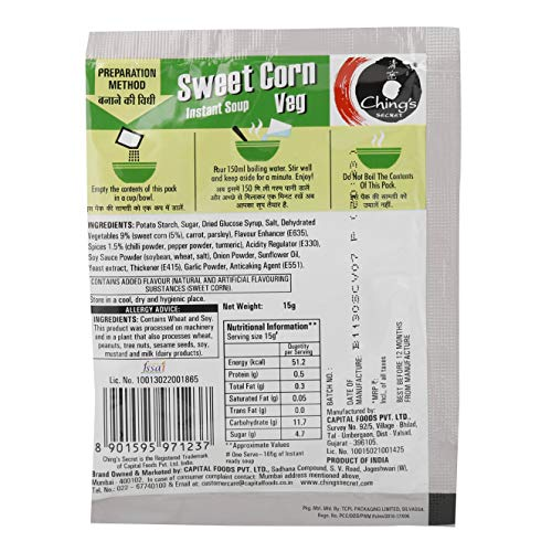 Chings Instant Soup - Sweet Corn Veg,15g