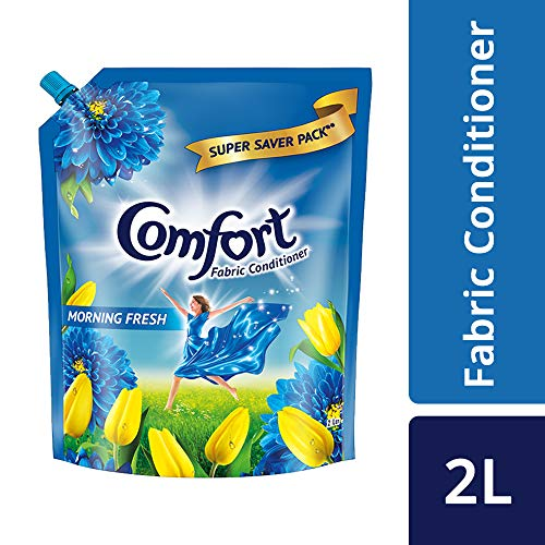 Comfort After Wash Fabric Conditioner Pouch (Fabric Softener) - For Softness, Shine And Long Lasting Freshness, 2 Ltr