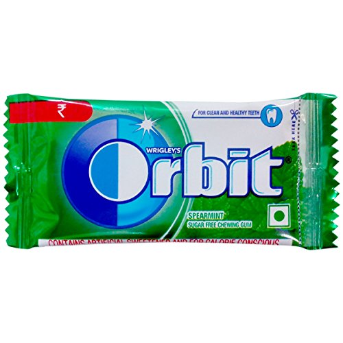 Wrigley's Orbit Chewing Gum - Spearmint, 4.4g Pack