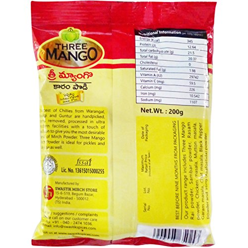 Three Mango Powder - Mirchi, 200g Pouch