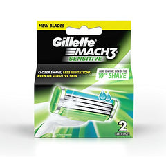 Gillette Mach 3 Sensitive Manual Shaving Razor Blades - 2s Pack (Cartridge)