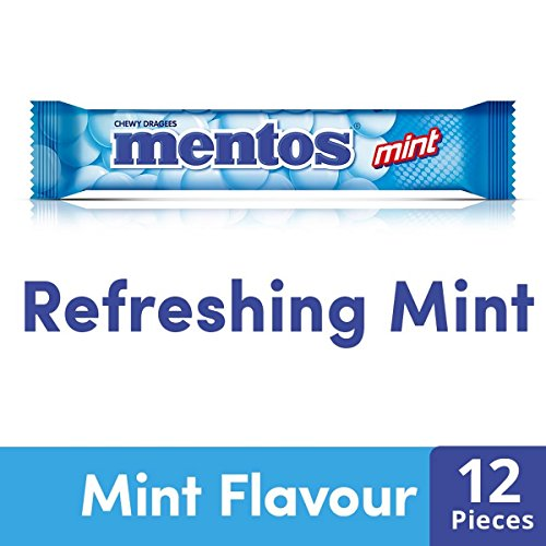 Mentos Chewy Dragee, Mint Flavourr, 36.4 g (14 Pieces)