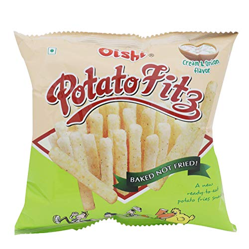 Oishi Potato Fitz - Cream & Onion, 65g