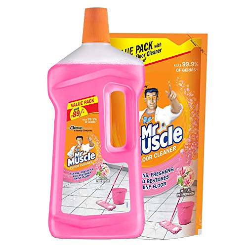 Mr. Muscle Floor Cleaner - Floral Perfection, 1L Bottle