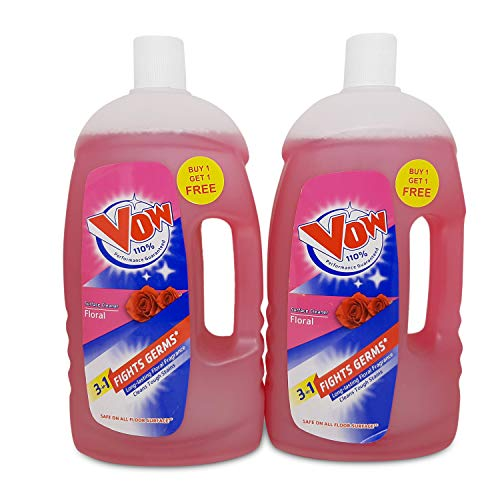 Vow Disinfectant Surface Cleaner - 1 Liter (Floral, Buy 1 get 1)