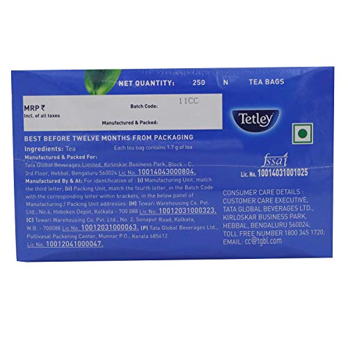 Tetley Black Tea Bags - Original, 250 Tea Bags