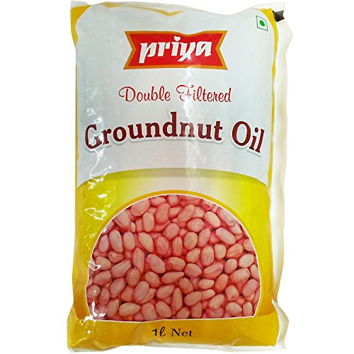 Priya Cooking Oil - Groundnut, 1L Pouch