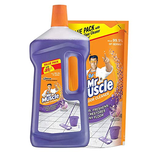 Mr Muscle Floor Cleaner Lavender 1050ml + Free Mr. Muscle Floor Cleaner 550ml