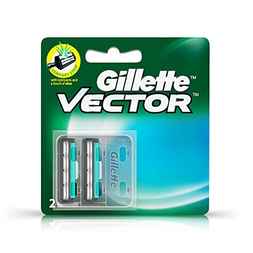 Gillette Vector plus Manual Shaving Razor Blades - 2 Cartridge