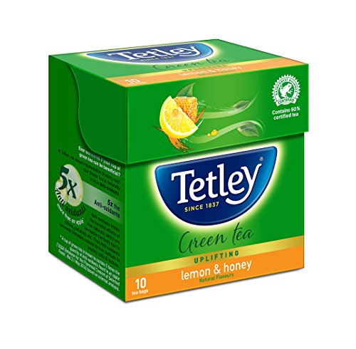 Tetley Green Tea Immune with added Vitamin C, Lemon and Honey, 10 Tea Bags
