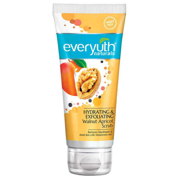 Everyuth Naturals Hydrating & Exfoliating Walnut Apricot Scrub, 100gm , Tube