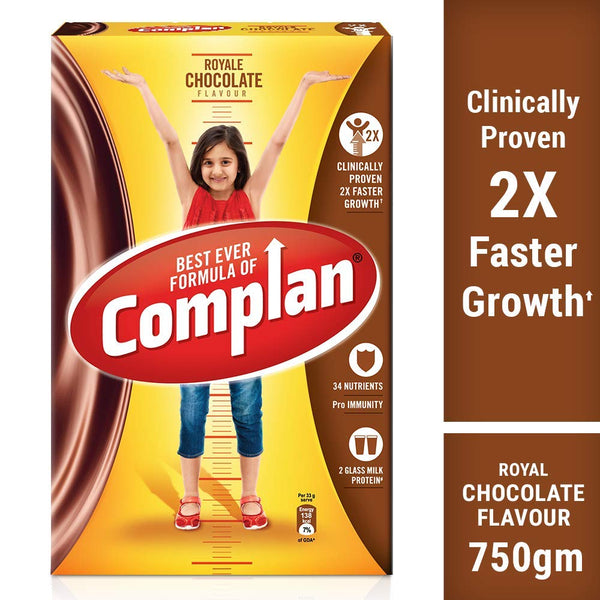 Complan Growth Drink Mix, Royale Chocolate – 750g Carton