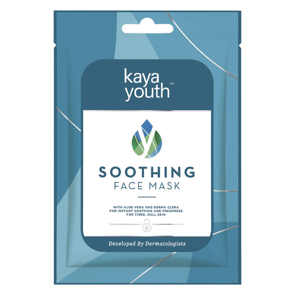 Kaya Youth Soothing Face Mask, With Aloe Vera and Derma Clera - 1pc